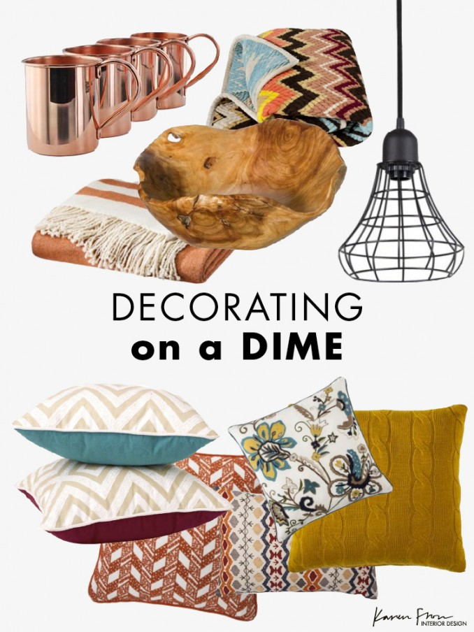 Decorating on a dime karen fron interior design calgary for Decor on a dime