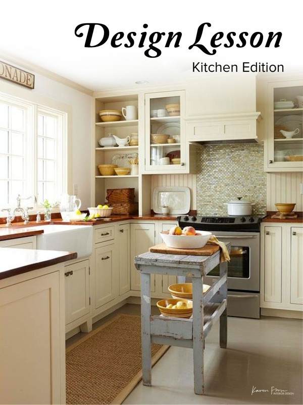 design lesson kitchen edition karen fron interior design cal