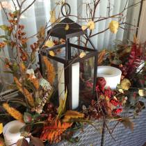 Window box filled with striking fall foliage