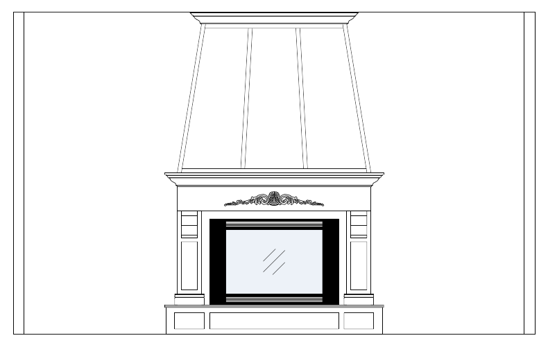 drawings of fireplace