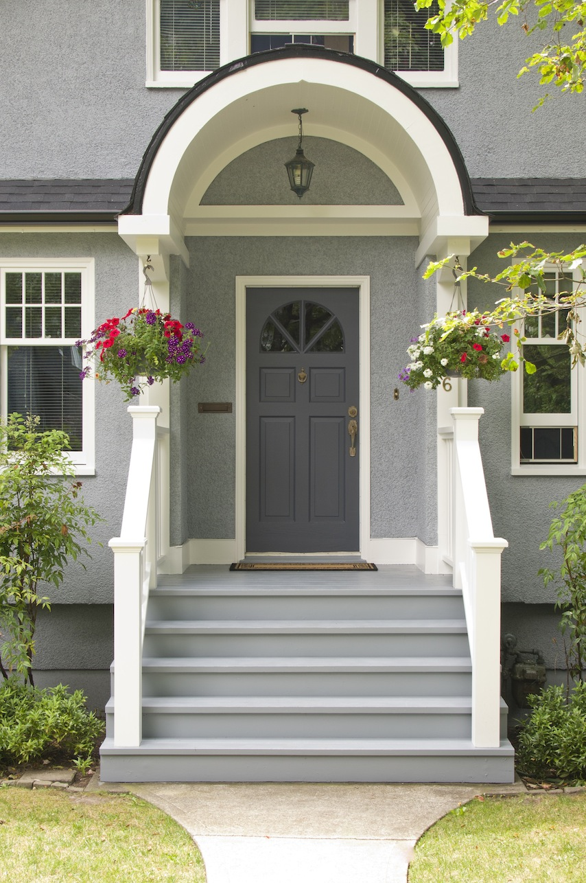 How to pick exterior paint colours karen fron interior - What color door goes with gray house ...