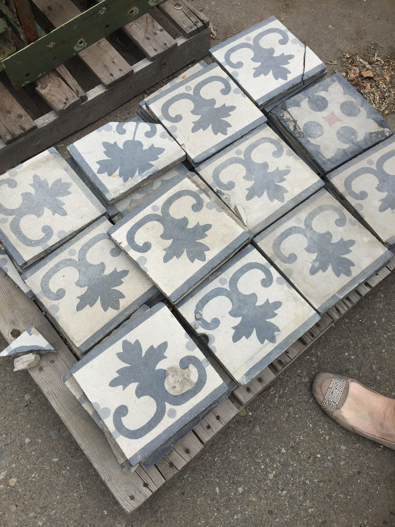antique tiles from Uniquities in Calgary
