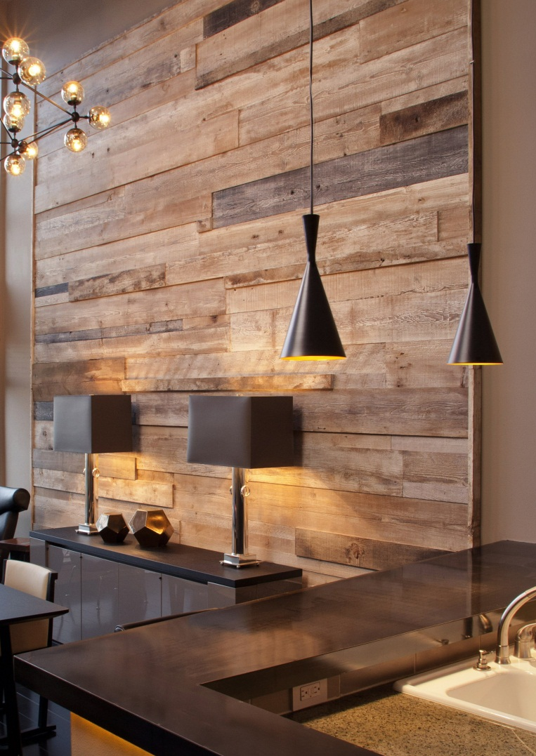 Dining Room Decor Ideas Pinterest Reclaimed Wood Feature Wall 763 X 1077 Karen Fron Interior Design Calgary