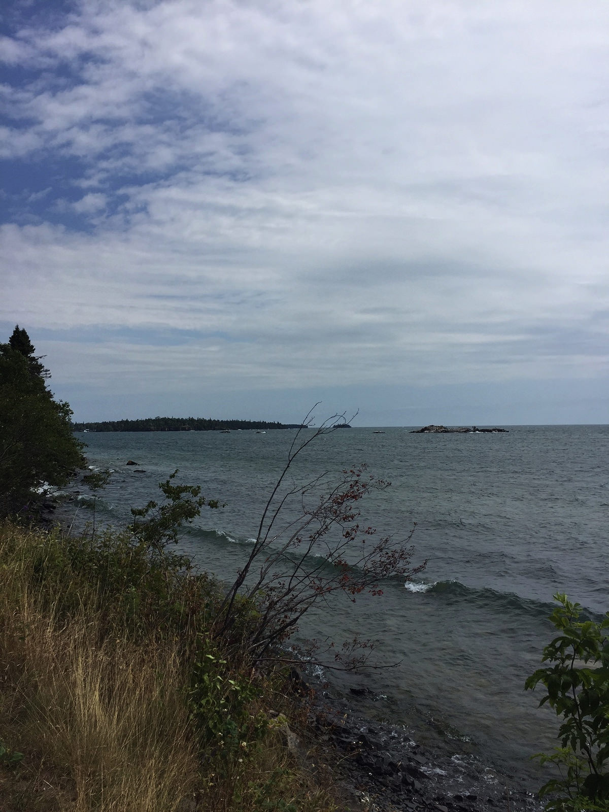 Lake Superior view from Silver Islet Ontario near Thunder Bay