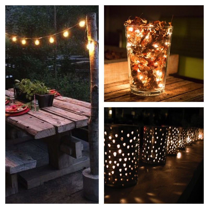 lighting ideas for outdoor patio as it transitions from Summer to early Autumn
