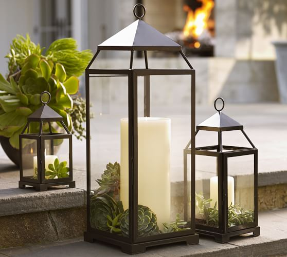 pottery barn classic lanterns are a perfect decor item for transitional seasons