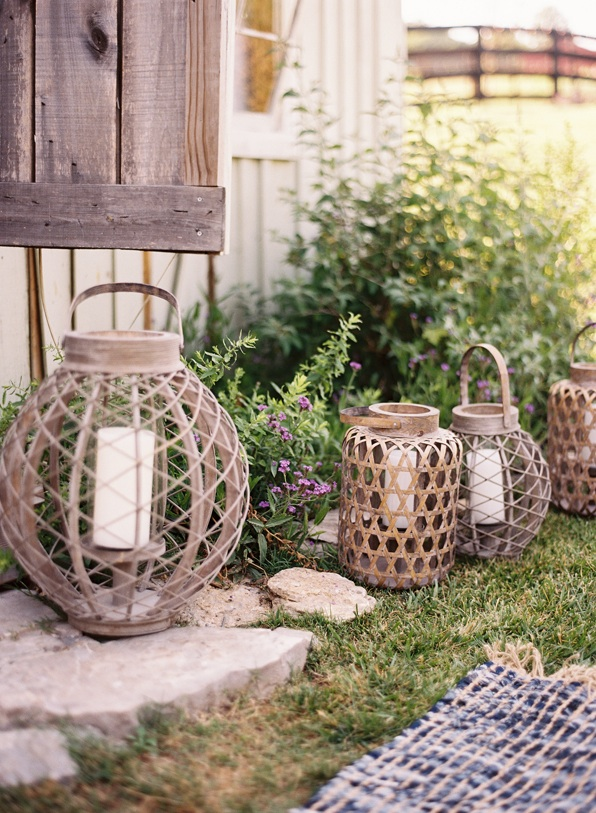 rustic lanterns are perfect for transitional season decor