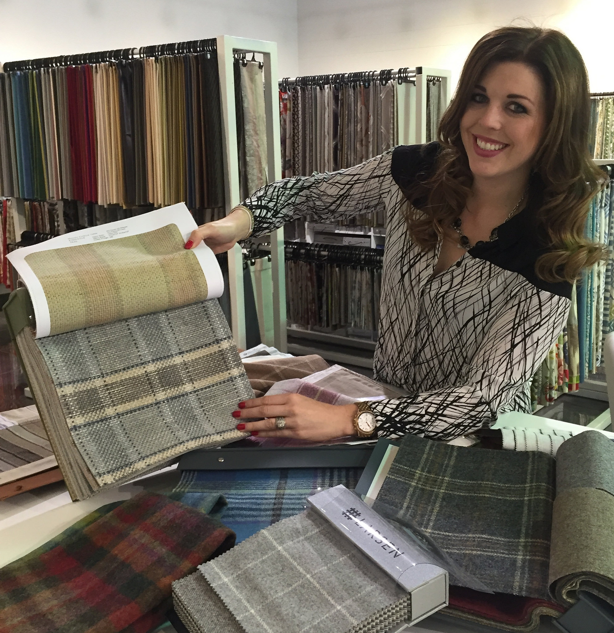 Colefax and Fowler, Larson, Kirkby and Fabricut are some of the plaids represented