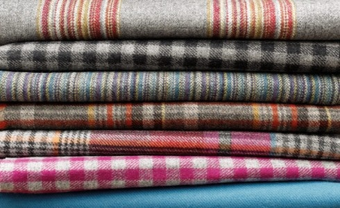 beautiful plaids in non-traditional colours from Kirkby