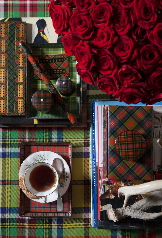 table top plaid decor items by Scot Meacham Wood