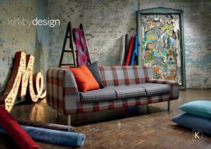 Kirkby designs plaid sofa done in a non-traditional way