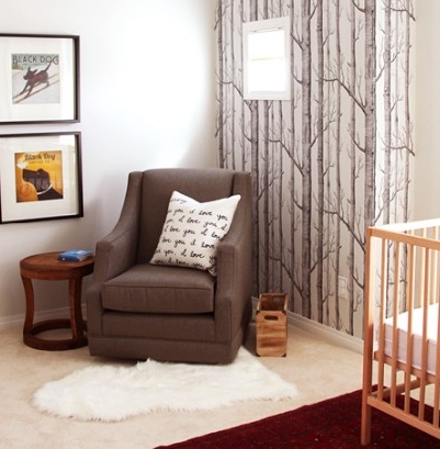 Simple & clean design for a modern nursery with pieces that can be upcycled as the family grows.
