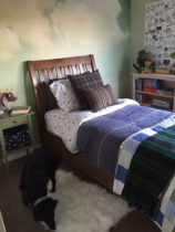 little boys room refresh with wallpaper mural and new bedding