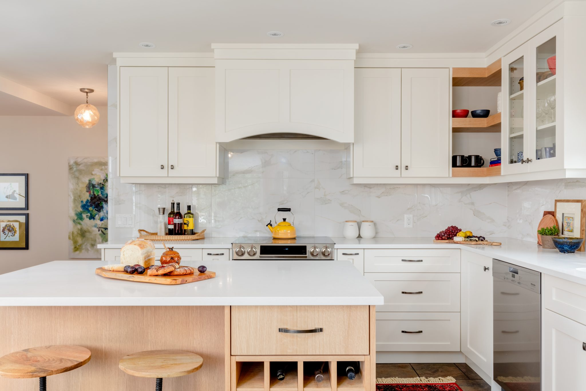 White Or Wood What S The Most Timeless Choice For Kitchen Cabinets Karen Fron Interior Design Calgary